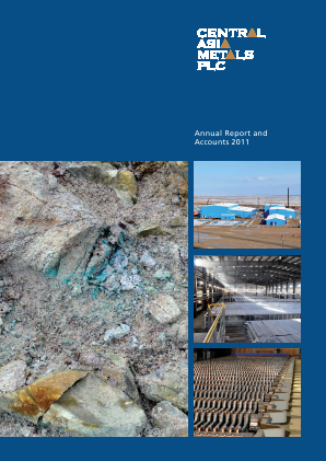 Central Asia Metals Plc annual report 2011