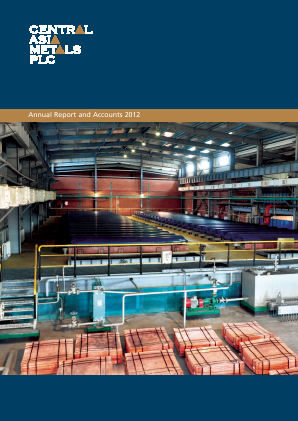Central Asia Metals Plc annual report 2012