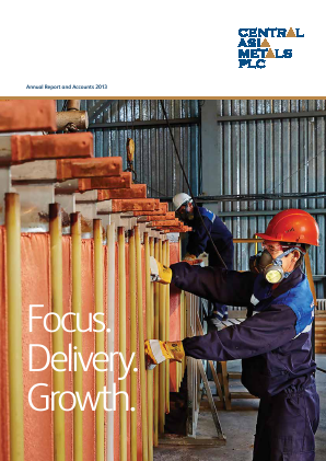Central Asia Metals Plc annual report 2013