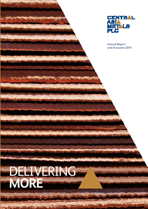 Central Asia Metals Plc annual report 2014