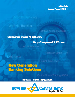 Canara Bank annual report 2011