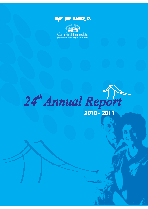 Can Fin Homes annual report 2011