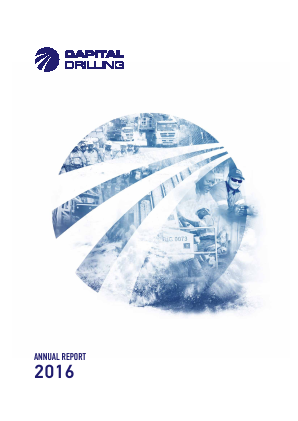Capital Drilling annual report 2016
