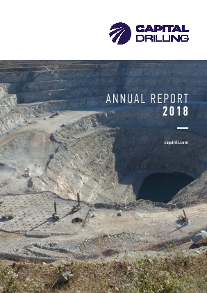 Capital Drilling annual report 2018