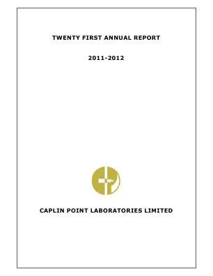 Caplin Point Laboratories annual report 2012