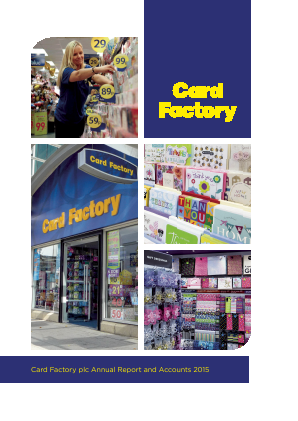 Card Factory Plc annual report 2015