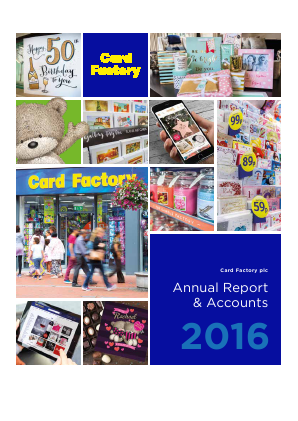 Card Factory Plc annual report 2016
