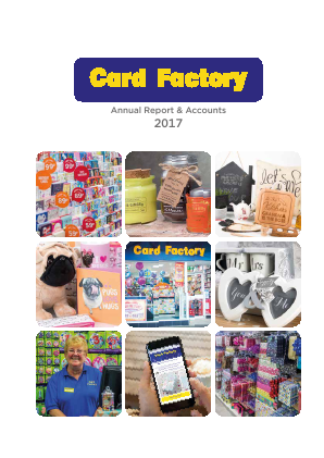 Card Factory Plc annual report 2017