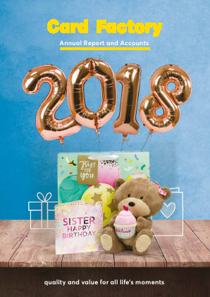 Card Factory Plc annual report 2018