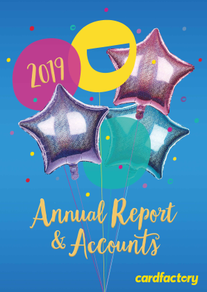 Card Factory Plc annual report 2019