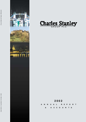 Charles Stanley Group annual report 2002
