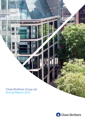 Close Brothers Group annual report 2012