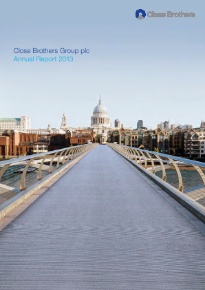 Close Brothers Group annual report 2013