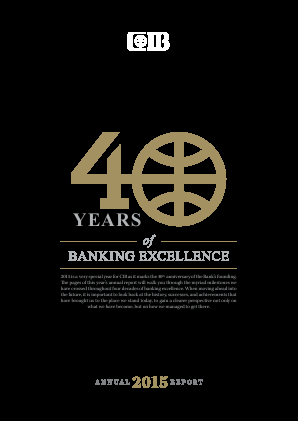 Commercial Intl Bank(Egypt) SAE annual report 2015