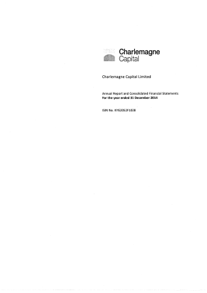 Charlemagne Capital annual report 2014