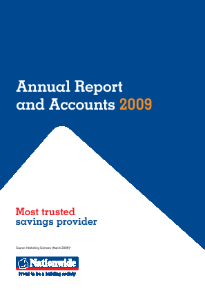 Nationwide Building Society annual report 2009