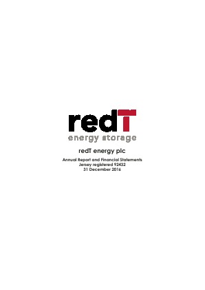 redT Energy Plc (formally Camco Clean Energy) annual report 2016