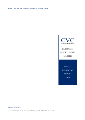 CVC Credit Partners European Opportunities annual report 2016