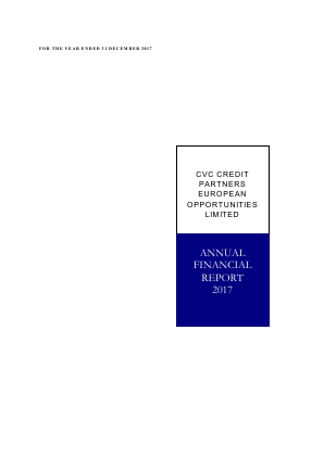 CVC Credit Partners European Opportunities annual report 2017