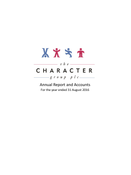 Character Group annual report 2016