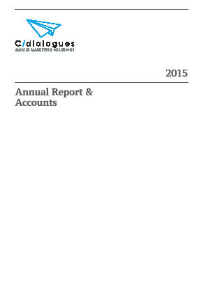 Cdialogues Plc annual report 2015