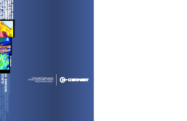 Cerner Corporation annual report 2000