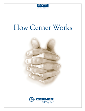 Cerner Corporation annual report 2005
