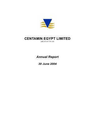 Centamin Plc annual report 2004