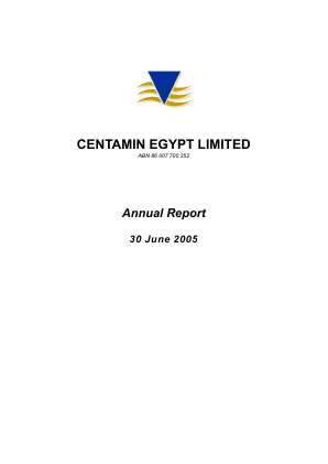 Centamin Plc annual report 2005