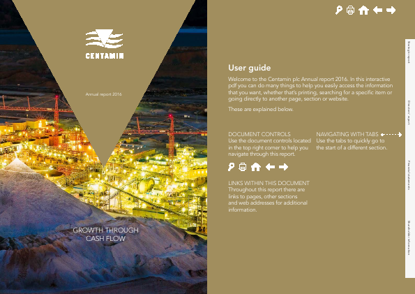 Centamin Plc annual report 2016