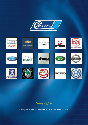 Caffyns annual report 2007