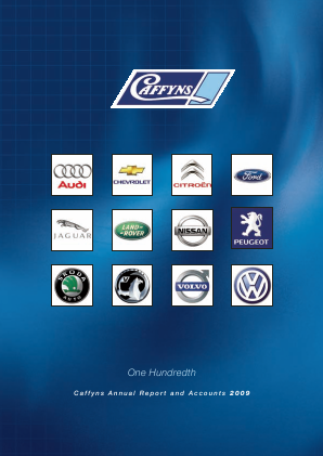 Caffyns annual report 2009