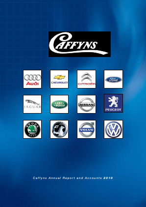 Caffyns annual report 2010