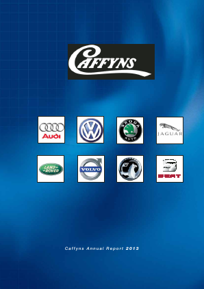 Caffyns annual report 2013
