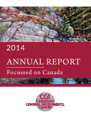 Canadian General Investments annual report 2014