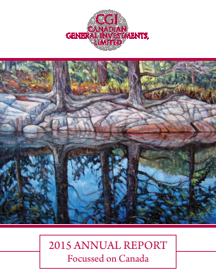 Canadian General Investments annual report 2015