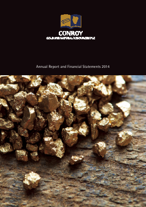 Conroy Gold & Natural Resources Plc annual report 2014