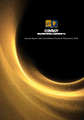 Conroy Gold & Natural Resources Plc annual report 2016