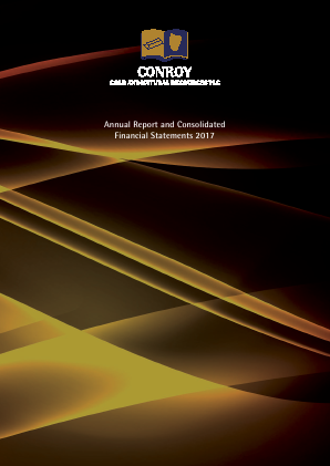 Conroy Gold & Natural Resources Plc annual report 2017