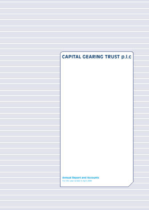 Capital Gearing Trust annual report 2008