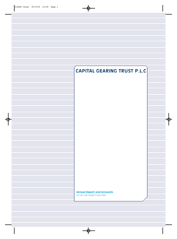 Capital Gearing Trust annual report 2009