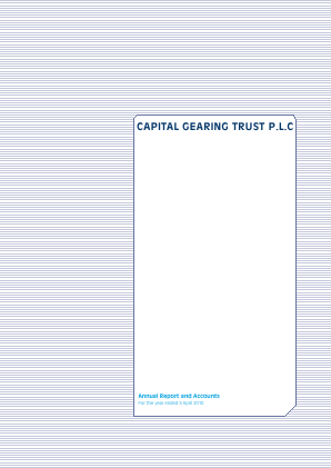 Capital Gearing Trust annual report 2010