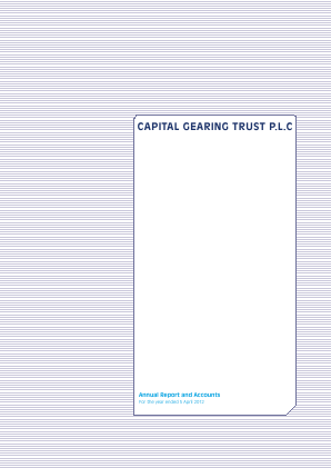 Capital Gearing Trust annual report 2012