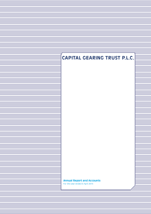 Capital Gearing Trust annual report 2013