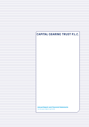 Capital Gearing Trust annual report 2018