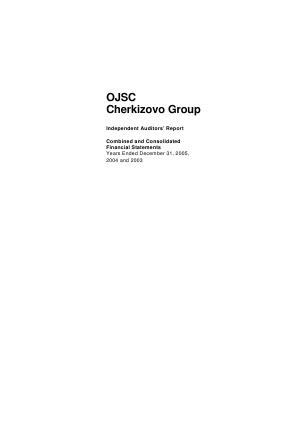 Cherkizovo Group PJSC annual report 2005