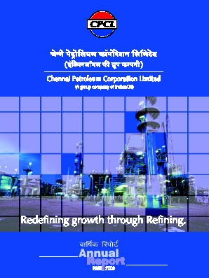 Chennai Petroleum Corporation annual report 2006