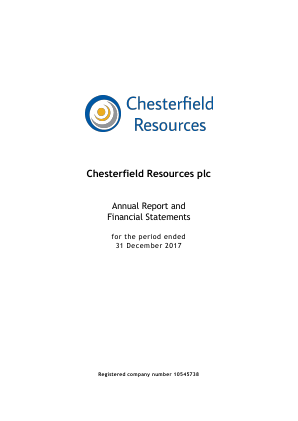 Chesterfield Resources annual report 2017