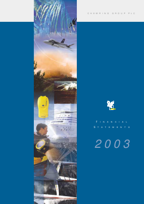 Chemring Group annual report 2003
