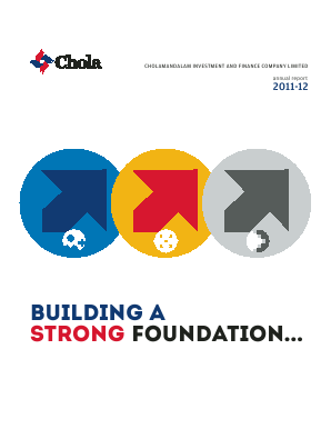 Cholamandalam Investment and Finance Company annual report 2012